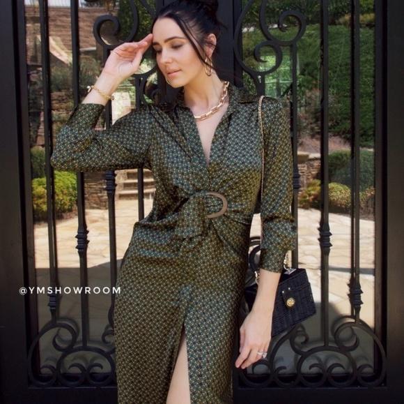 Zara Dresses & Skirts - ZARA Chain link midi dress